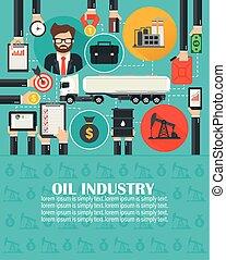 Management business oil flat with gasoline tanker car