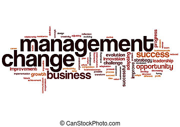 Management change word cloud