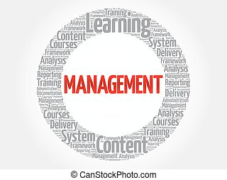 MANAGEMENT circle word cloud