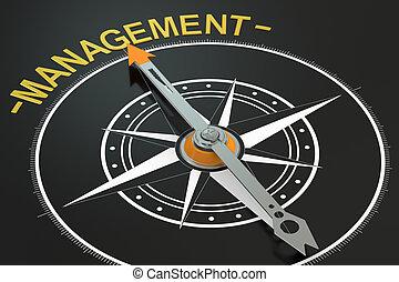 Management compass concept, 3D rendering