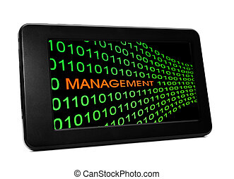 Management concept on PC tablet
