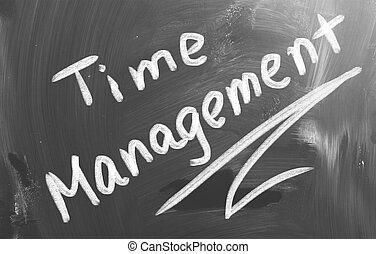 management, concept, tijd