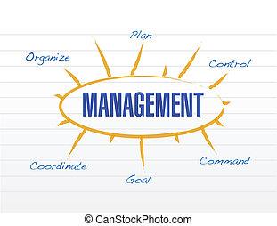 management diagram model illustration