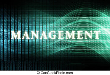Management as a Abstract Background Concept Art