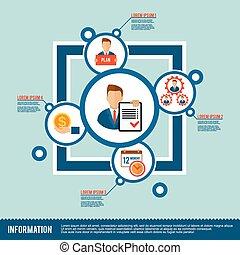 Management Icon Flat - Management company organization ...