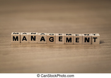 Management in wooden cubes