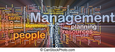 Management is bone background concept glowing