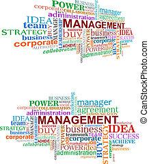 management, markeringen, wolk