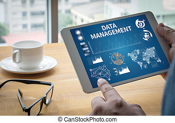 management, netwerk, databank, bestand, data, wolk
