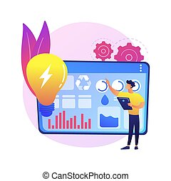 Management of resources abstract concept vector illustration.