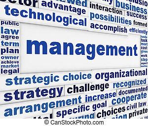 Management poster conceptual design