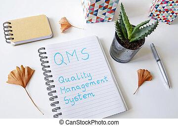 management, qms, systém, napsáný, diář, kvalita