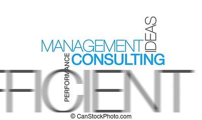 management, raadgevend, woord, wolk
