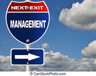 Management road sign