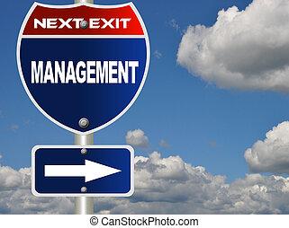 Management road sign