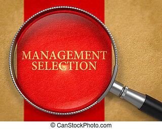 Management Selection Concept through Magnifier.