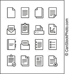 management,  Set, schets, iconen,  Vector, bestand