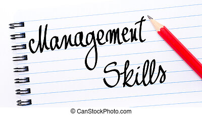Management Skills written on notebook page