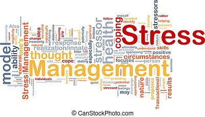 management, stres, pojem, grafické pozadí