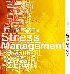 management, stress, concept, achtergrond