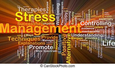 management, stress, concept, gloeiend, achtergrond