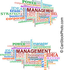 Management tags cloud for business and development design
