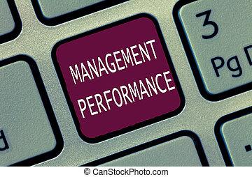 management, terugkoppeling, vaardigheden, tekst, het tonen, meldingsbord, competencies, performance., foto, conceptueel, leidingevend