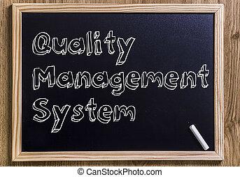 management, text, obrys, -, systém, tabule, čerstvý, kvalita, 3