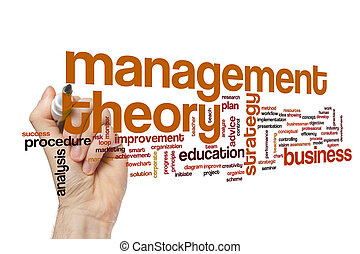Management theory word cloud concept
