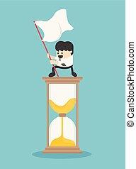 Management Time. Business Concept Cartoon Illustration.