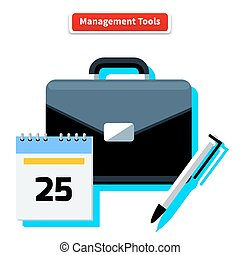 Management Tools - Management tools concept. Icons for...