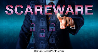 Management User Touching SCAREWARE Onscreen
