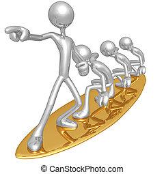 management, verantwoordelijkheid, surfing