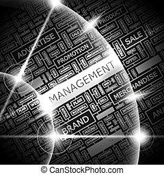 MANAGEMENT. Word cloud concept illustration. Wordcloud...