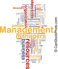 Management word cloud - Word cloud concept illustration of...