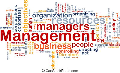 Word cloud concept illustration of business management