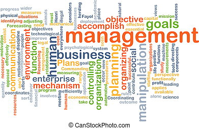 management wordcloud concept illustration