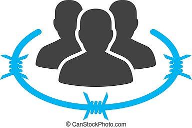 management, zakelijk, bicolor, streng, set, pictogram