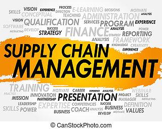 managemet, cadena, suministro