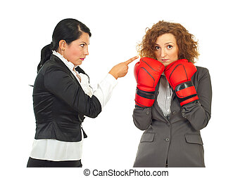 Manager argue employee woman