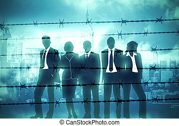 Manager behind Barbed wire