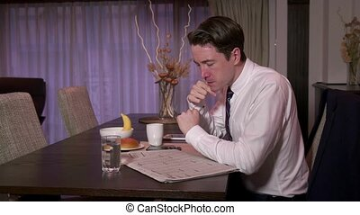 Manager Busy Businessman At Home