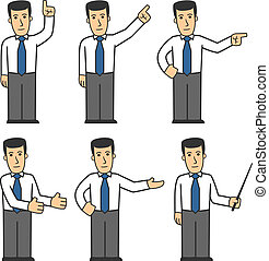 Manager character set 03 - set of office worker in different...