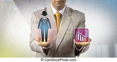 Manager Demoting Female White Collar Worker