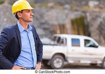 manager, entschlossen, bergwerk