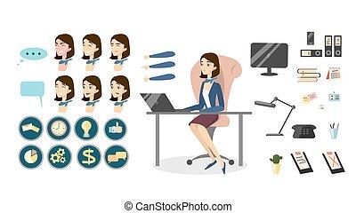 manager., femininas, escritório