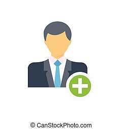 manager  flat color icon