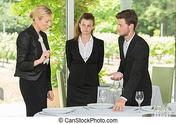 manager, gasthaus, arbeiter, junger