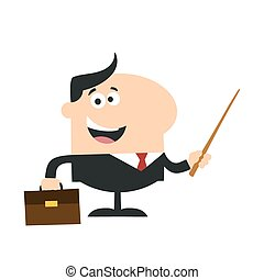 Manager Holding A Pointer Stick