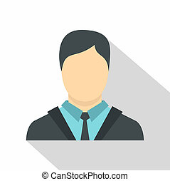 Manager icon, flat style